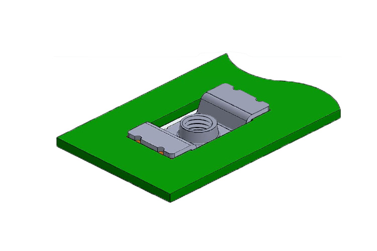 ネジ端子(M4) SD01932-2K  基板実装用 表面実装タイプ 吊り下げ式の低背タイプ RoHS指令対応